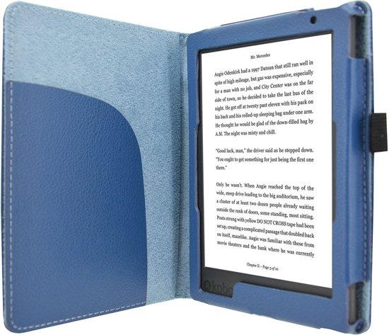 Premium Hoes Kobo Aura Edition 2 Sleep cover / Beschermhoes / Case, Blauw