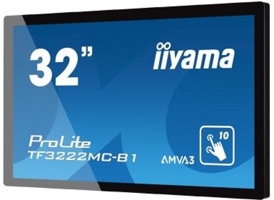 iiyama ProLite TF3222MC-B1 31.5'' 1920 x 1080Pixels Multi-touch Capacitief Zwart touch screen-monitor