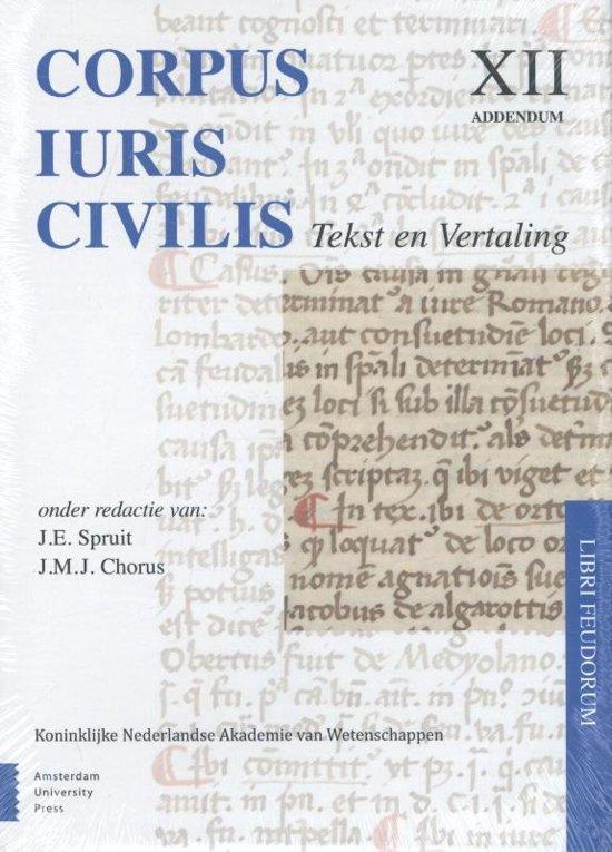 Corpus Iuris Civilis 12 addendum - Libri feudorum