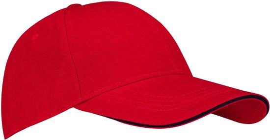 New Port Baseballcap Junior - Sandwich - Rood/Marine