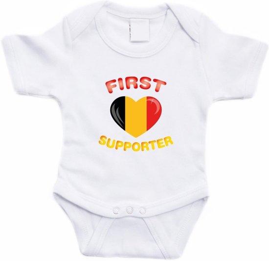 Babykleding Belgie.Bol Com Wit First Belgie Supporter Rompertje Baby Babykleding 56