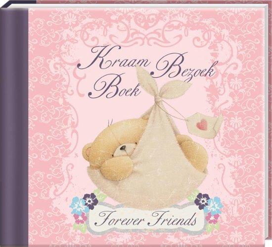 Kraambezoekboek Forever Friends - Dagboek - Roze - Strik - 21 x 19 x 2 cm