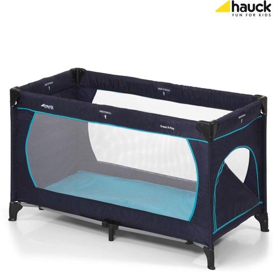 Hauck Dream'n Play Plus - Campingbedje - Navy/Aqua