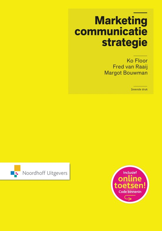 Marketingcommunicatiestrategie incl. toegang tot Prepzone