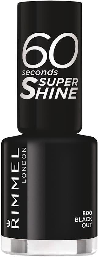 Rimmel London 60 seconds supershine Nagellak - 800 Black Out