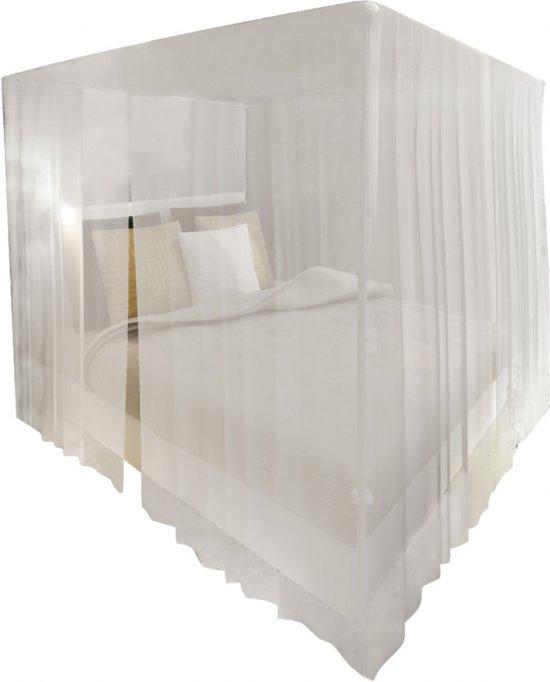 Dubbele klamboe muggennet voor bed vierkant 3 openingen (set van 2)