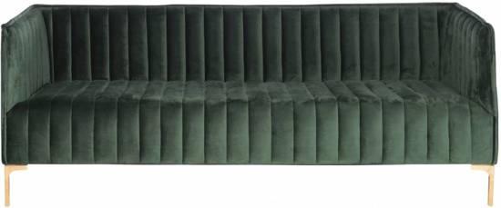 Duverger Velvet stripes - Sofa - velours - gestreept - donker groen