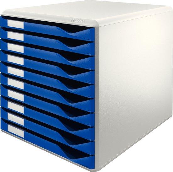 Leitz ladenblok met 10 laden wit blauw for Ladenblok 10 laden
