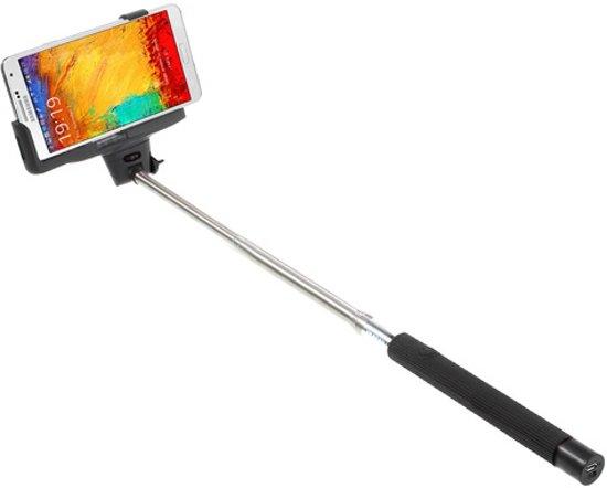 Wireless Bluetooth selfie stick Zwart