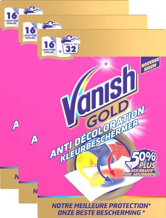 Vanish Kleurenvanger Gold - 3 x 16 stuks - Grootverpakking