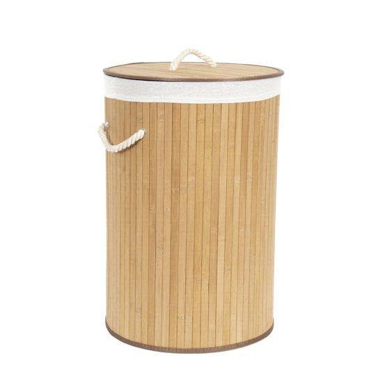 Ronde Design Wasmand.Bamboo Ronde Vouwbare Wasmand