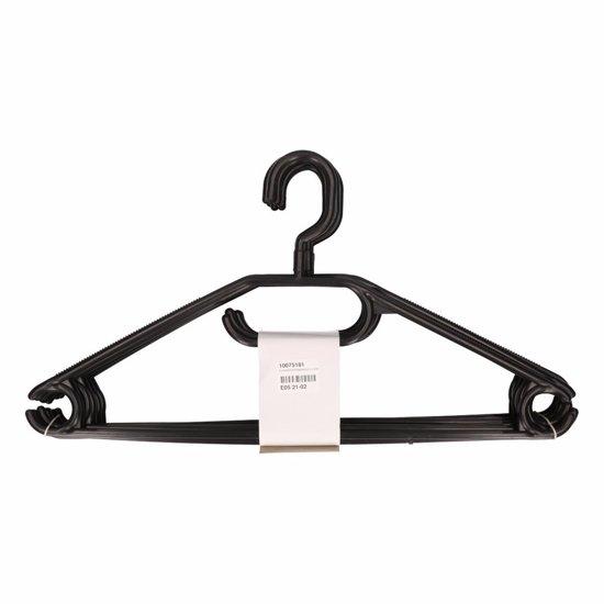 Kunststof kledinghangers zwart 10 stuks