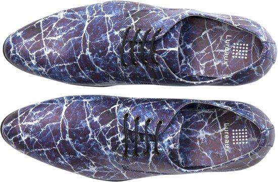 Lureaux 45 Nette Herenschoenen Maat Blue Handgemaakte Marble 6wC1Uq6R