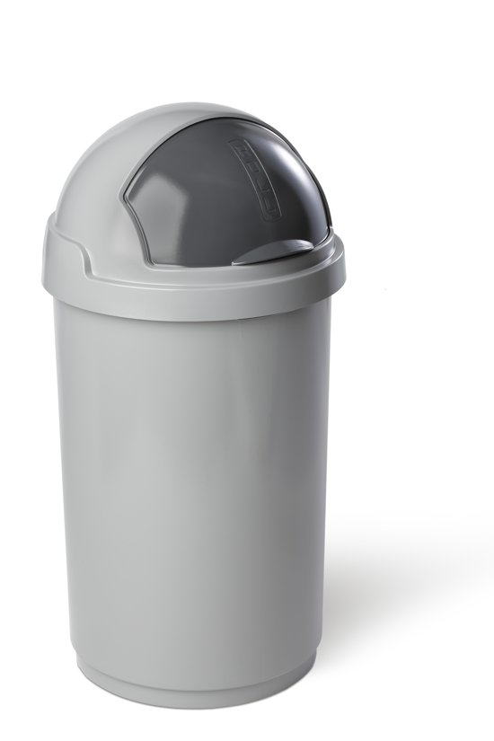 curver roll bullet bin prullenbak 50 l eco zilver. Black Bedroom Furniture Sets. Home Design Ideas