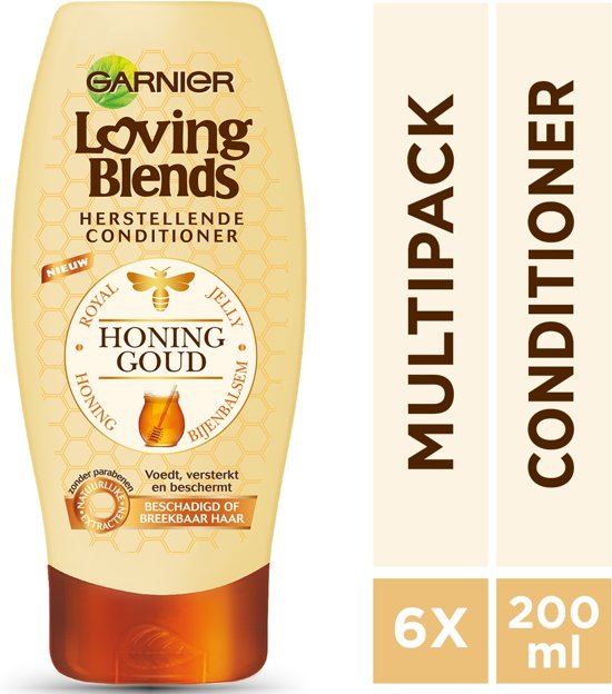 Garnier Loving Blends Honing goud Conditioner - 6 x 200 ml - Voordeelverpakking