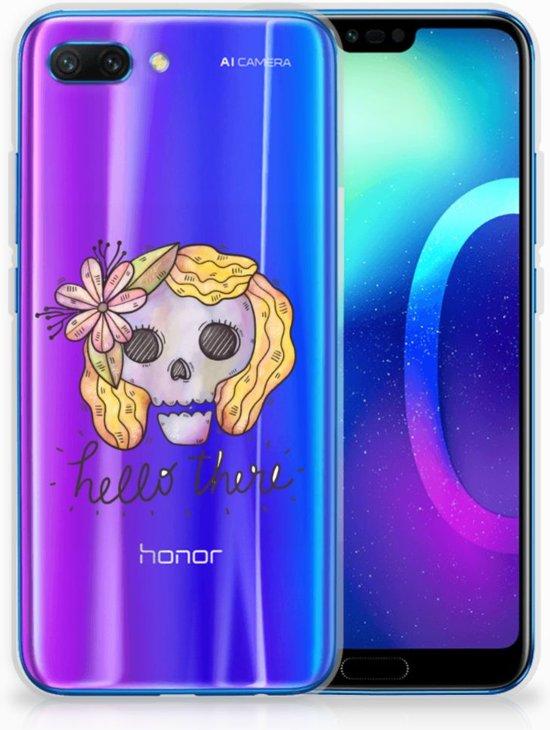 Huawei Honor 10 Uniek TPU Hoesje Boho Skull