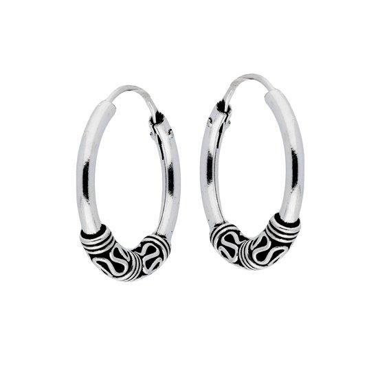Lovenotes - Zilveren creolen bali hoops