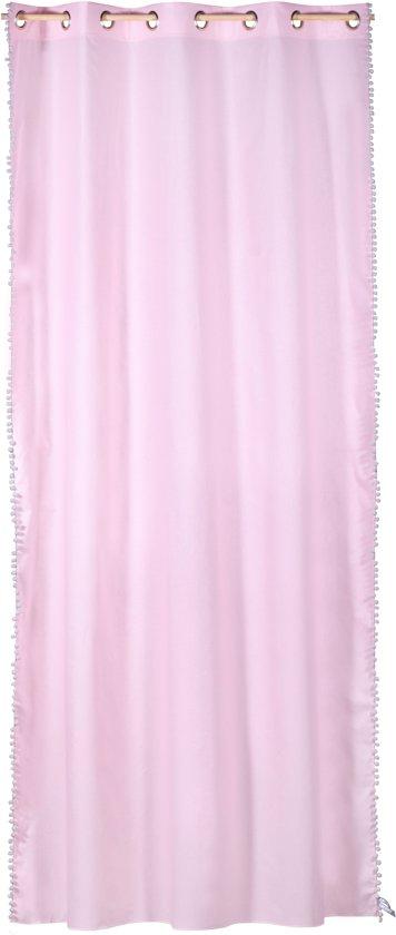 Kidsdepot gordijn Stip Zebra flamingo 140x275 cm