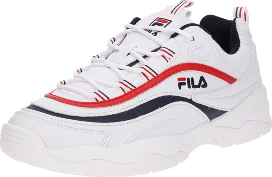 d0471bc85af Fila Ray Low Sneakers Heren - White/Fila Navy/Fila Red - Maat 41