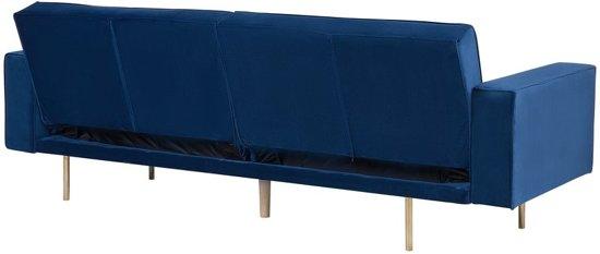 Beliani Visnes Slaapbank Blauw 188x107