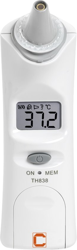 Cresta TH838 - Oor Thermometer - Infrarood - Digitaal - Wit