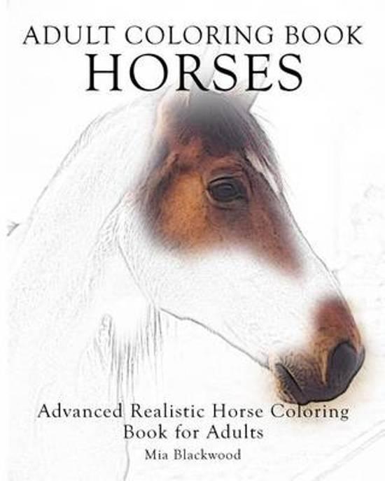 Bol Com Adult Coloring Book Horses Mia Blackwood 9781519149596