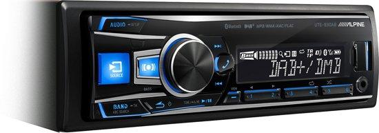 Alpine UTE-92BT 200W Bluetooth Zwart autoradio