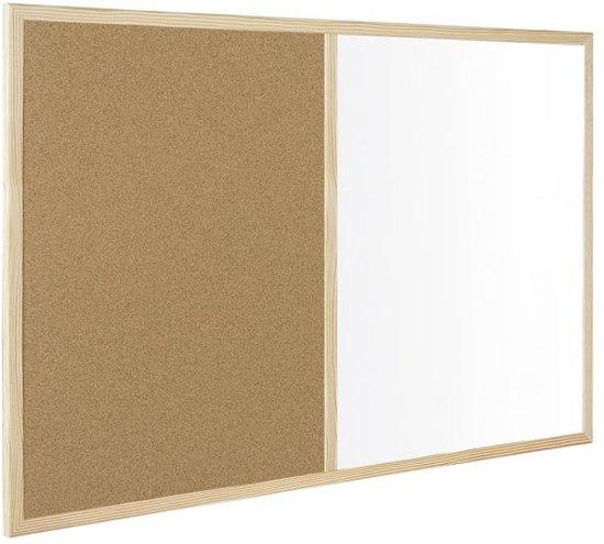 Lijst 60 X 90.Kurk24 Prikbord Whiteboard Houten Lijst 60 X 90 Cm Combinatiebord