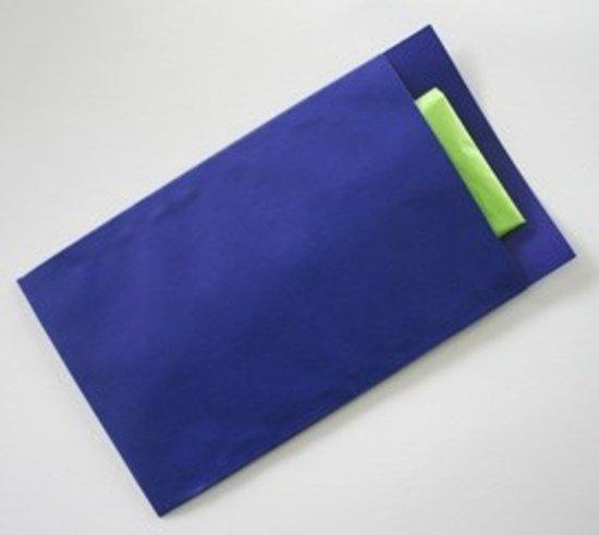 Cadeauzakjes Donker Blauw kraft - 12x19cm - 70gr - 250 stuks   Fourniturenzakjes / Kadozakjes / Geschenkzakjes