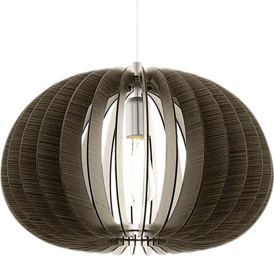 bol eglo cossano hanglamp 1 lichts à 450mm nikkel