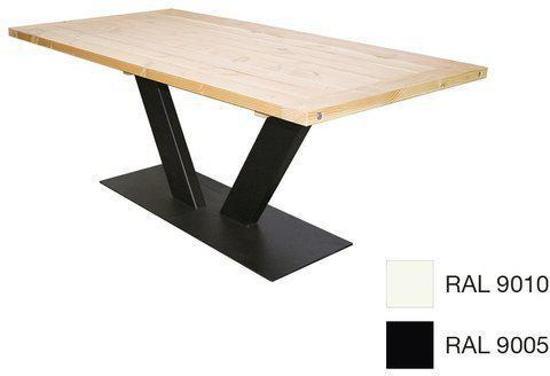 Eettafel Op 1 Poot.V Poot Eettafel 90x180cm Zwart