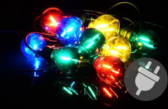 feestverlichting 10 led lampen gekleurd e27 fitting