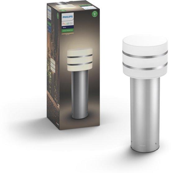 Philips Hue Tuar - Sokkellamp laag - 1 Lichtpunt - RVS  - 1 x 806lm