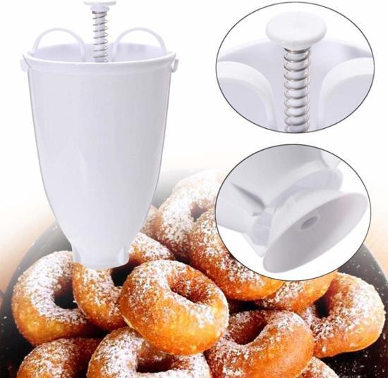SuperEasyCommerce Donut maker - Wit - Ø10 cm