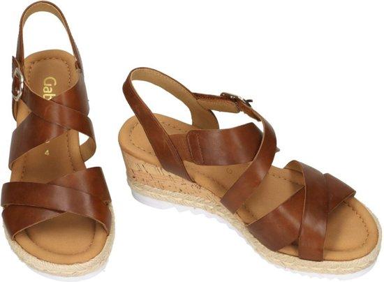 Gabor Comfort sandalen met sleehak cognac