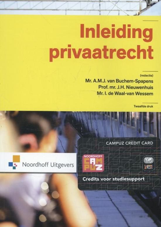 Boek cover Inleiding privaatrecht van A.M.J. van Buchem-Spapens (Paperback)