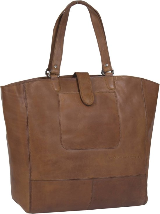 Chesterfield Leren Shopper Laptoptas Oldham Alison Cognac