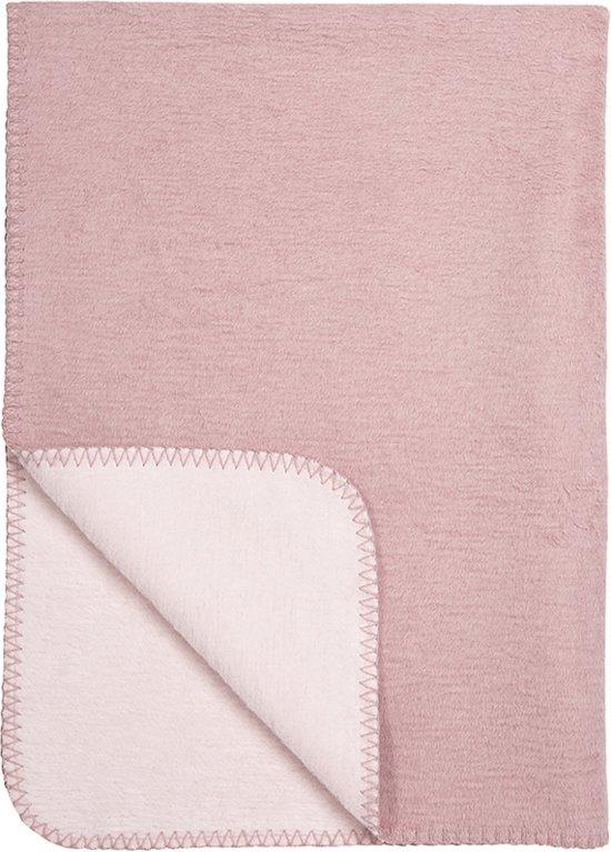 Meyco Double Face Wiegdeken - 75x100 cm - Oudroze/roze