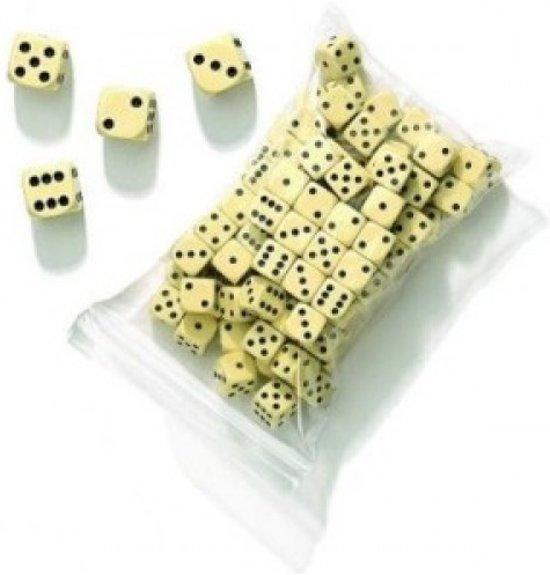 Afbeelding van het spel Dobbelsteen D6 16 mm.créme-wit p.st.zak 100