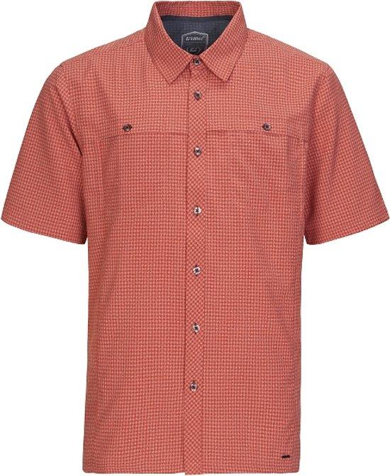 premium selectie schoonheid schoonheid Killtec heren blouse Herald rood ruit - maat 4XL