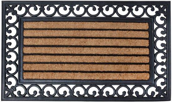 Vaak bol.com | Rubberen deurmat met kokos 75 x 45 cm DW48