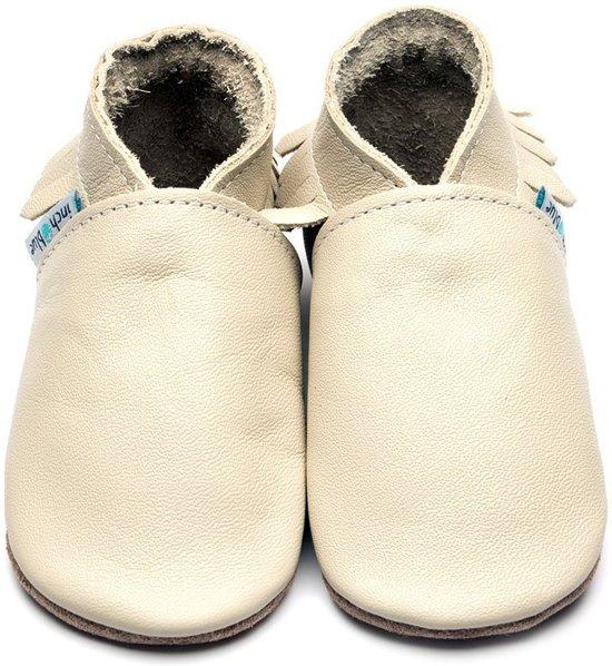 Inch Blue babyslofjes moccasin cream maat S (10,5 cm)
