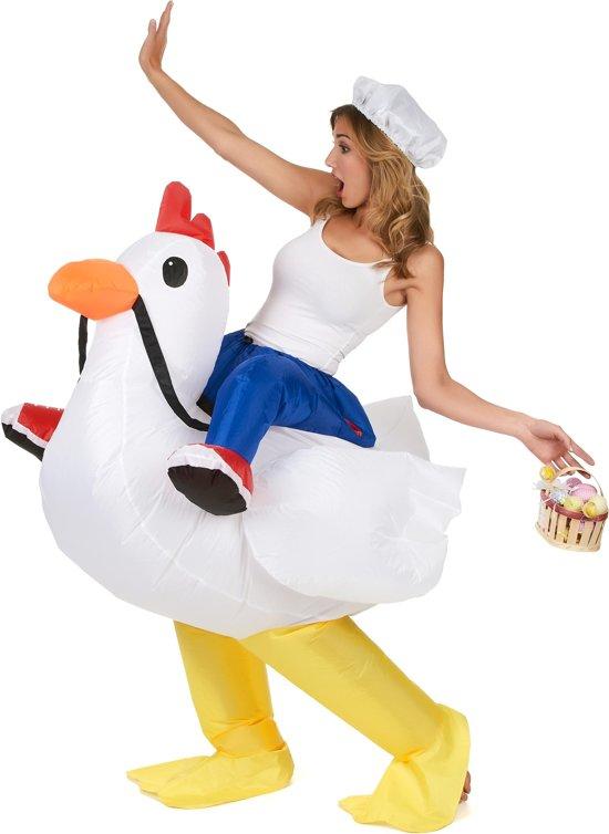 Fonkelnieuw bol.com | Opblaasbare kip kostuum voor volwassenen - Volwassenen JD-39