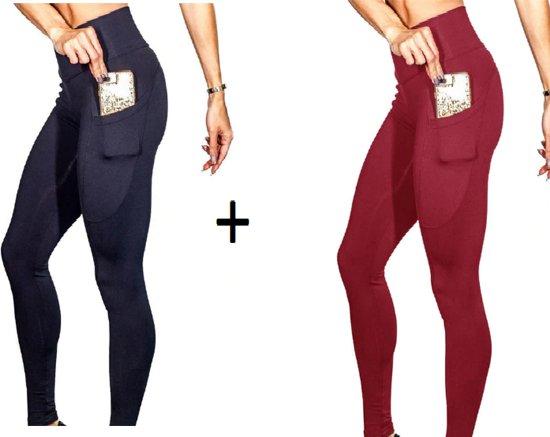 57d22edaf08 bol.com | 1+1 Gratis - 2 pack gym leggings - sport leggings - yoga ...