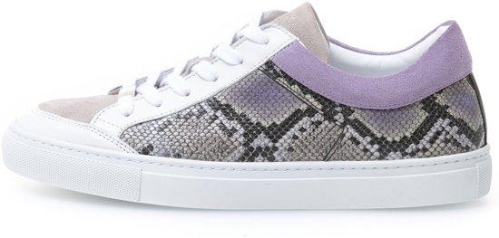KUNOKA Alex 1.1a snake lilac Sneakers Dames Zwart Paars
