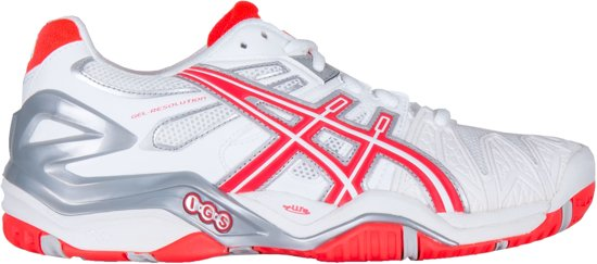 Asics Gel Resolution 5 Tennisschoenen Dames Sportschoenen Maat 39 Vrouwen witroodzilver