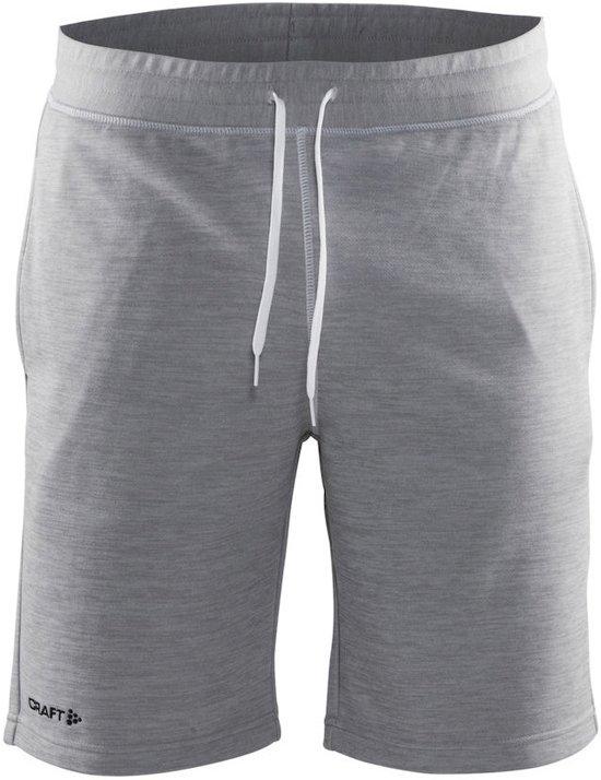 Craft In-the-zone Sweatshort - Sportbroek - Heren - 3XL - Grey Melange/white