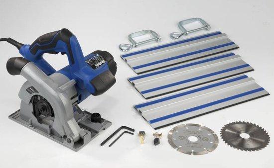 Westfalia Mini handcirkelzaag compact TSC110 1050, W Incl. 3 zaagbladen 33 cm