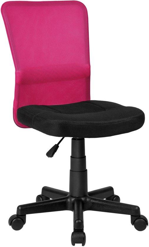 TecTake bureaustoel -  Kantoor design - Zwart/roze