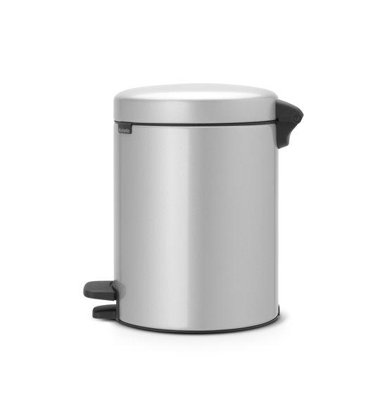 Brabantia NewIcon Pedaalemmer 5 Liter Metallic Grijs